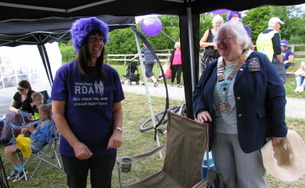 DG Hazel with RDA team member...